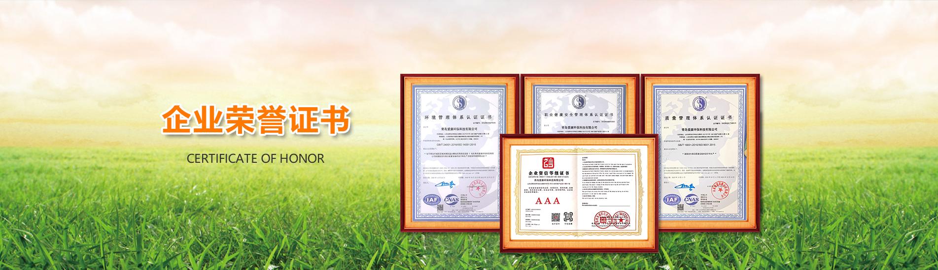 爱康荣誉证书