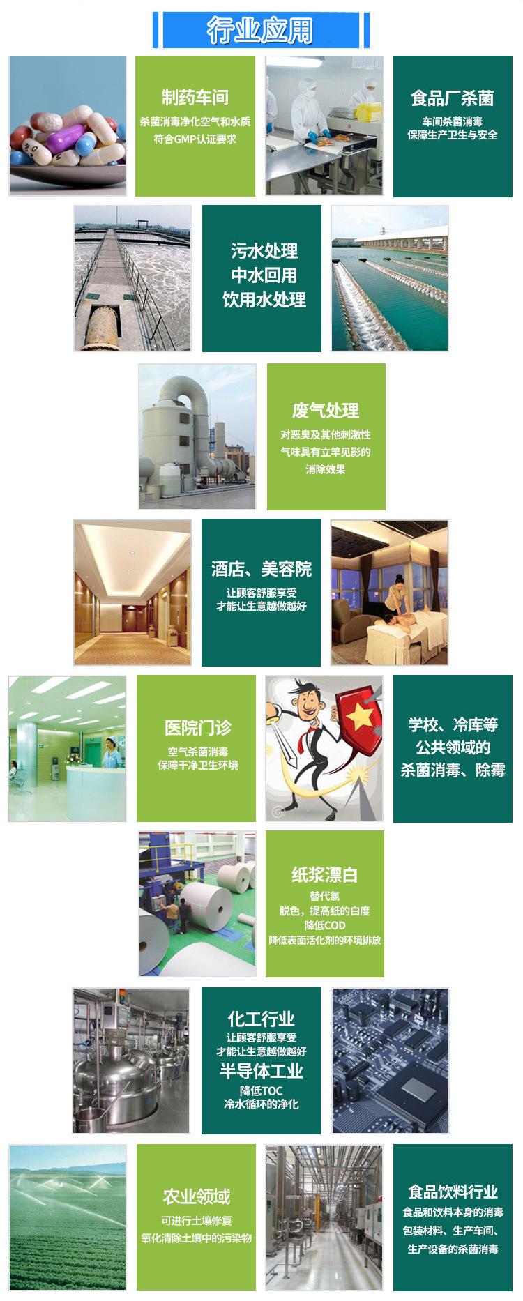 臭氧发生器行业应用